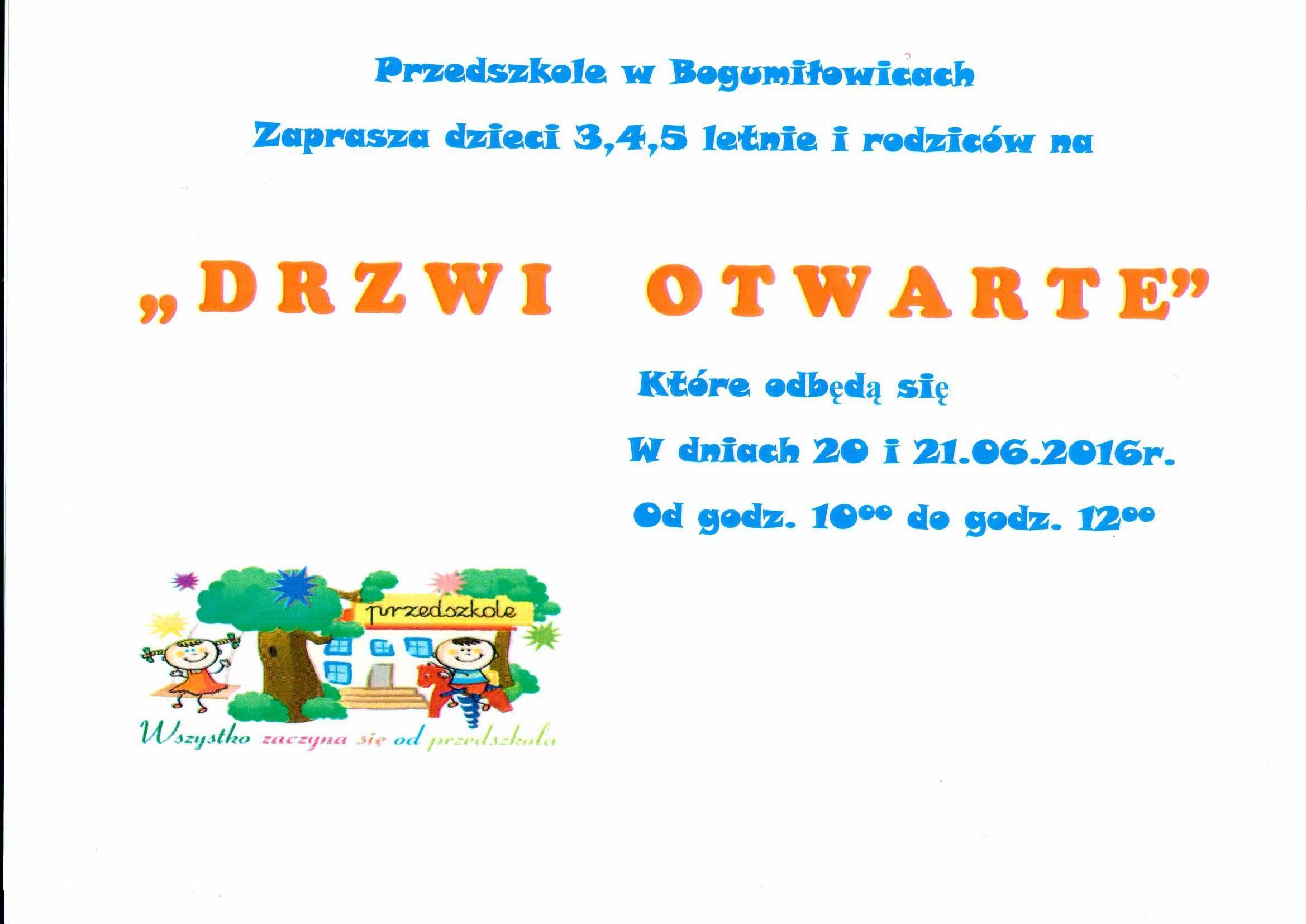 Dni Otwarte W Przedszkolu Szkoła Podstawowa Im Marii Konopnickiej