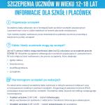 szczepieniauczniowwwieku1218latinformacjedlaszkoliplacowekplakatinformacyjny